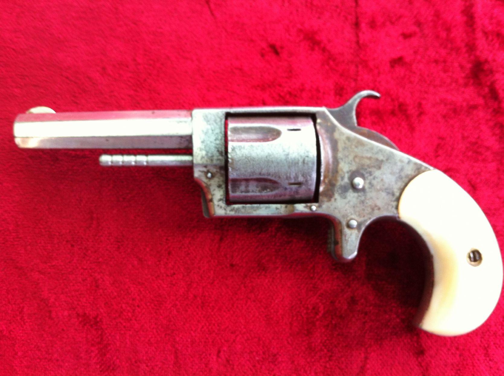 X X X SOLD X X X A Gamblers pistol - American  32 rimfire Sterling